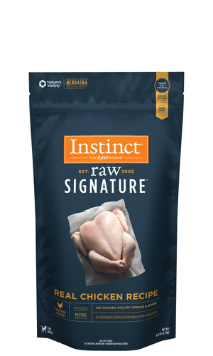 Instinct Canine Raw Signature Frozen Patties Real Chicken Recipe