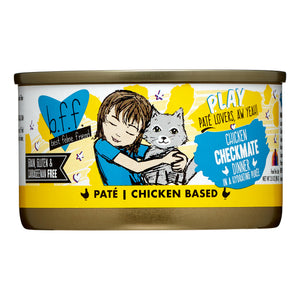Weruva BFF PLAY Checkmate Chicken Dinner in a Hydrating Puree Pate Wet Cat Food, (12) 2.8 oz Cans