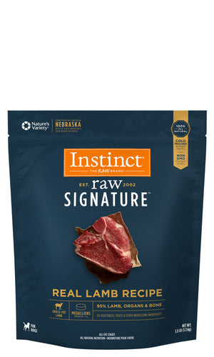 Instinct Canine Raw Signature Frozen Medallions Real Lamb Recipe