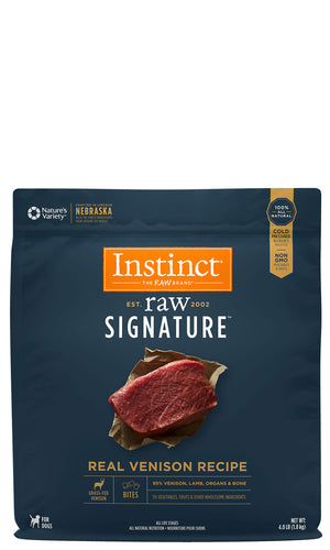 Instinct Canine Raw Signature Frozen Bites Real Venison Recipe