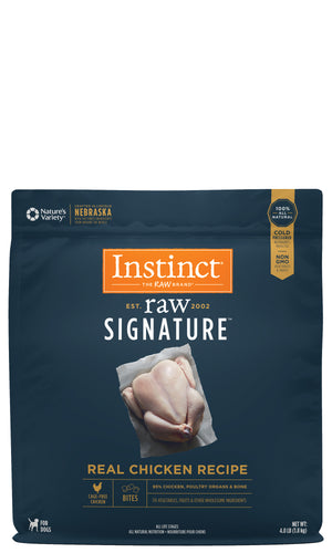 Instinct Canine Raw Signature Frozen Bites Real Chicken Recipe