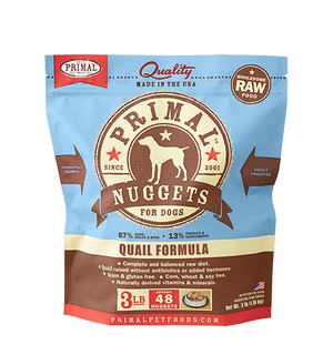 Primal Raw Frozen Canine Quail Nuggets Formula
