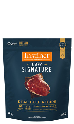 Instinct Canine Raw Signature Frozen Medallions Real Beef Recipe