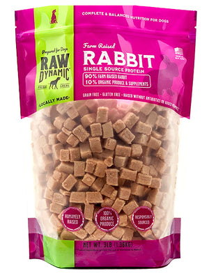 Raw Dynamic Dog Frozen Rabbit Formula for Dogs