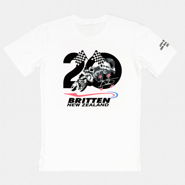 20th Anniversary Print T-Shirt - White