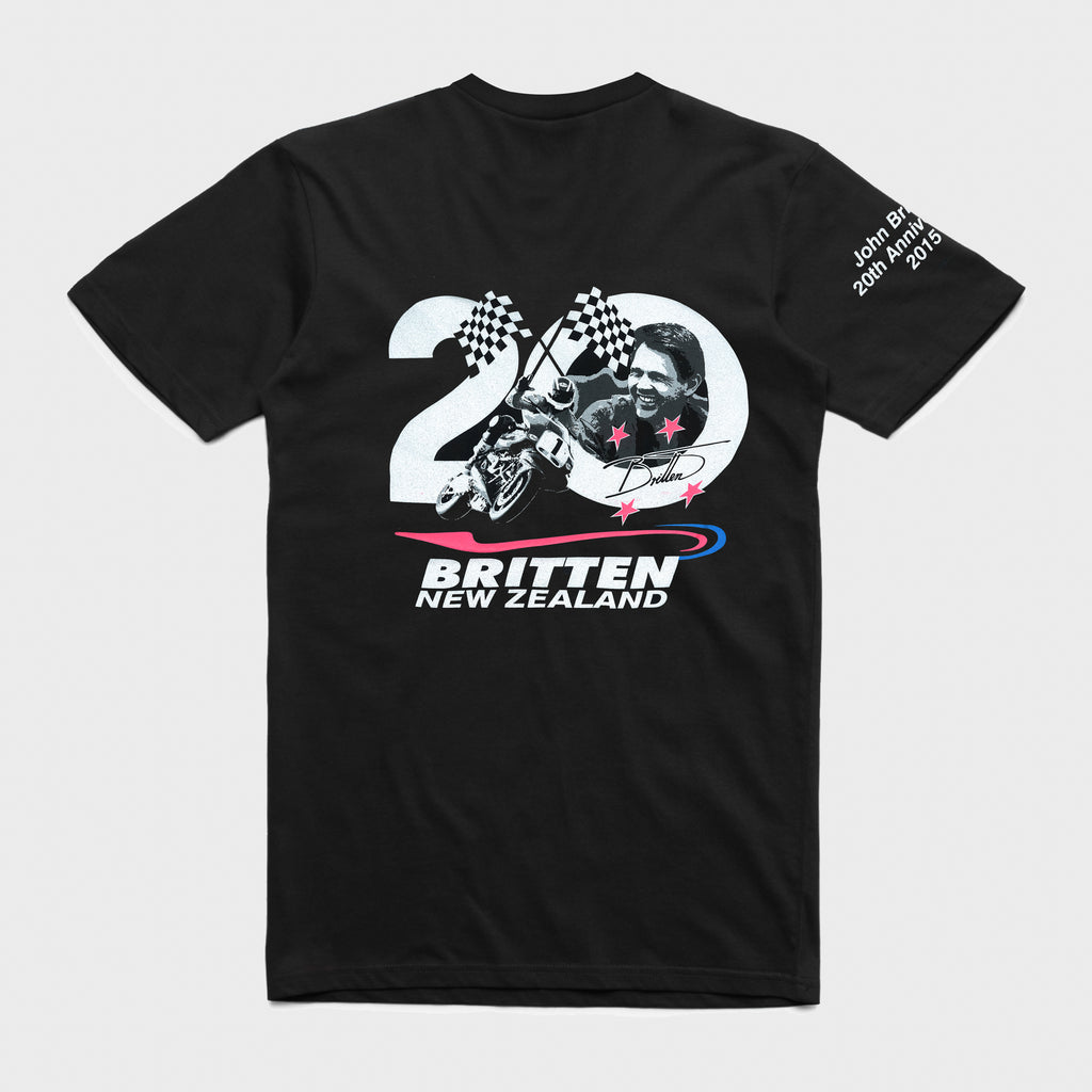 20th Anniversary Print T-Shirt - Black
