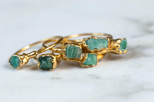Raw Emerald Ring