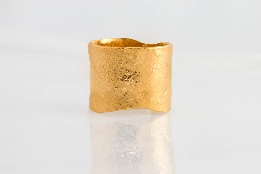 Textured Extra Wide Ring