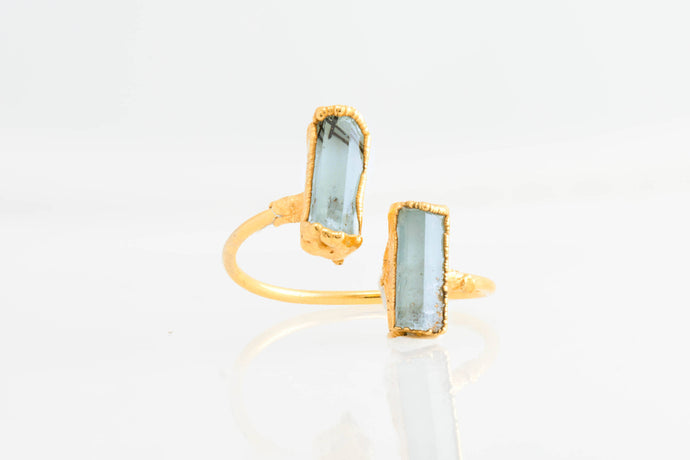 Aquamarine Open Ring