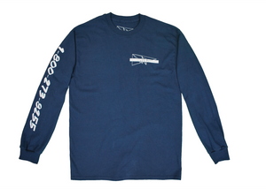 Long Sleeve Blue Lifeline Shirt