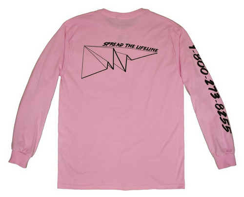 Long Sleeve Pink Lifeline Shirt