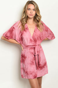 Rose Tie Dye Dress