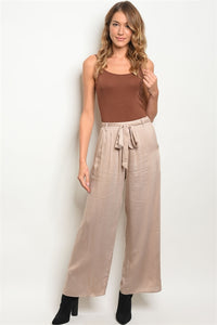 Tan Wide Leg Pants