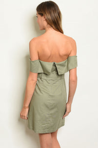 Sage Off Shoulder Dress