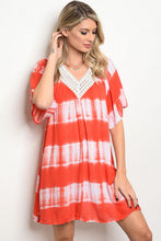 Load image into Gallery viewer, Coral Tie Dye Tunic