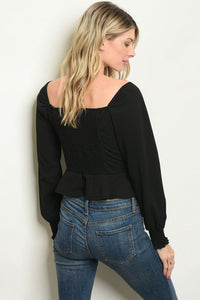 Black long Sleeves Top