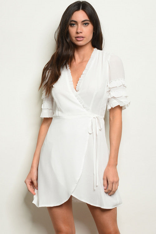 White Wrap Around Dress