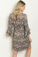 Load image into Gallery viewer, Sage Print Dress