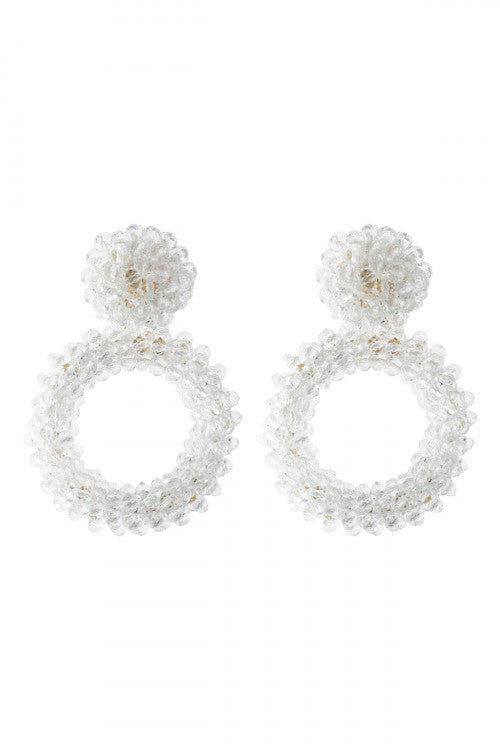 Crystal Rondelle Earrings