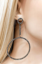 Load image into Gallery viewer, Charcoal Rhinestones Earrings