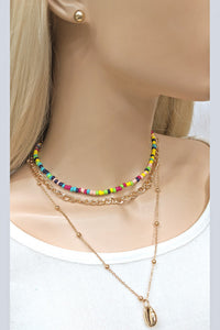 Colors and Sea  Necklace Set