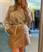 Load image into Gallery viewer, Brown Pleather Skirt