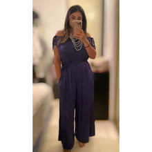 Load image into Gallery viewer, Indigo Off Shoulder Jumpsuit