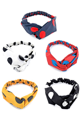 Elastic PolkaDots Headbands