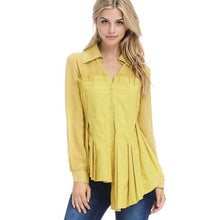 Load image into Gallery viewer, Mustard Asymmetric Blouse