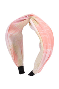 Pink KNOTTED FABRIC COATED HEAD BAND