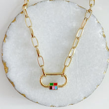 Load image into Gallery viewer, Rubik Cube Lock Necklace
