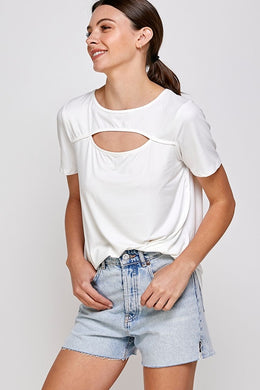 Ivory Cut Out Top