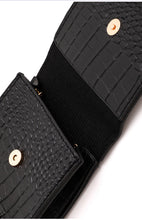 Load image into Gallery viewer, Small Square Faux Alligator Skin Bag
