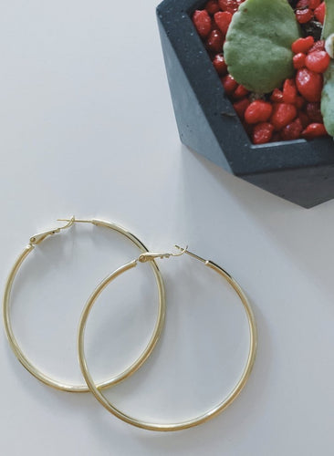 50 mm Hoop Earrings