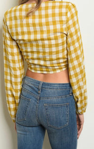 Yellow Checkered Top