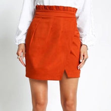 Load image into Gallery viewer, High Waisted Orange Skirt