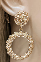 Load image into Gallery viewer, Gold Circular Texture Earrings