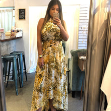 Load image into Gallery viewer, Yellow Animal Print Maxi