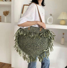 Load image into Gallery viewer, Raffia Round Bag