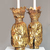 The Dolly Sisters (Jenny and Rosie) - Gold sleeves for candle holders