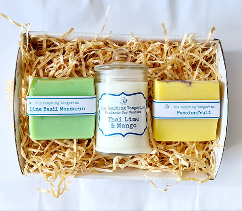Candle and soap hamper