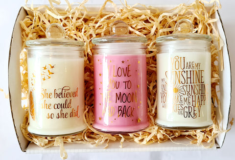 3 candle hamper