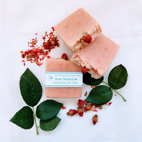 Rose Geranium essential oil soap