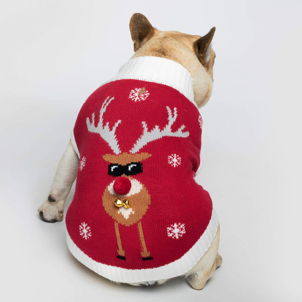 Dog's Make it Rein Christmas Sweater Accessories SillySanta