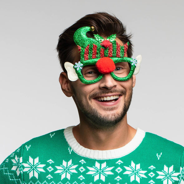 Elf Glasses Accessories SillySanta
