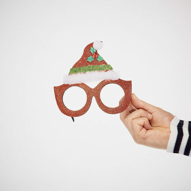 Santa Hat Glasses Accessories SillySanta