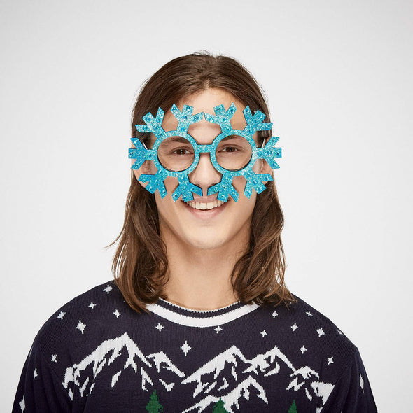 Snow Flake Glasses Accessories SillySanta