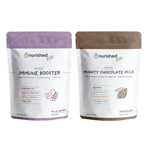 Immune & Mighty Milk Bundle - Nurished Whole Food Health for Adults & Kids