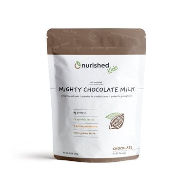 Mighty Chocolate Milk - Nurished Whole Food Health for Adults & Kids