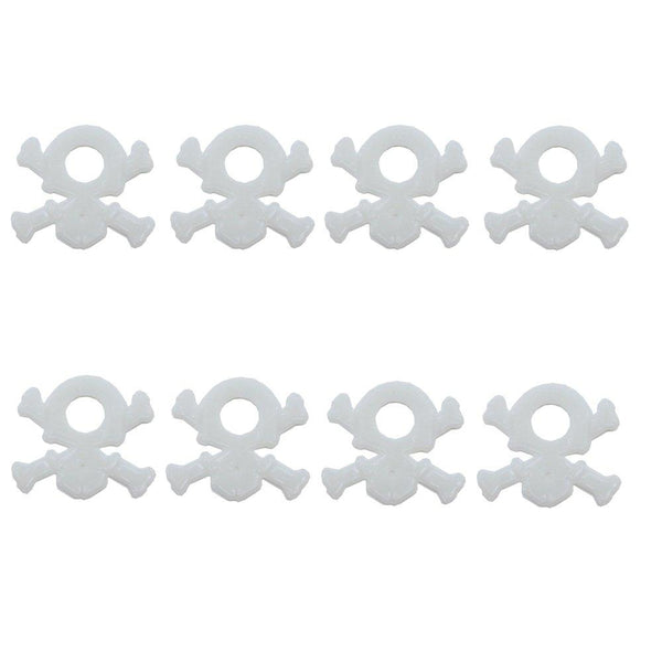 BASTENS white skull and cross bone body washers 8-piece for 1/10 scale RC car & truck such as Traxxas 1815 Losi HPI Axial Wraith SCX10